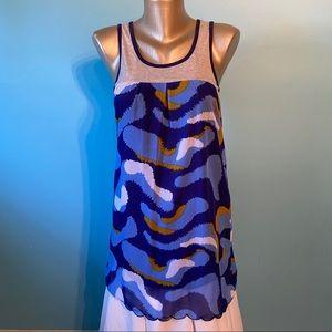 Gentle Fawn women's blue patterned dress